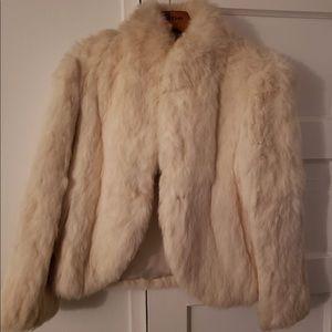 Jackets & Blazers - Warm rabbit coat. Blazer style with side pockets